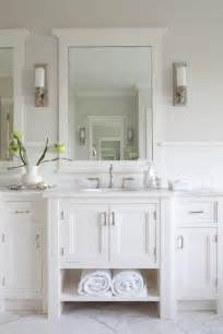 white bathroom paint white double vanity cottage bathroom hickman design