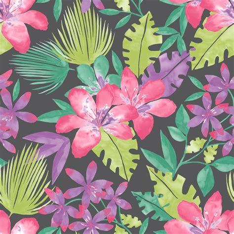 rasch paradise flowers pattern tropical floral leaf