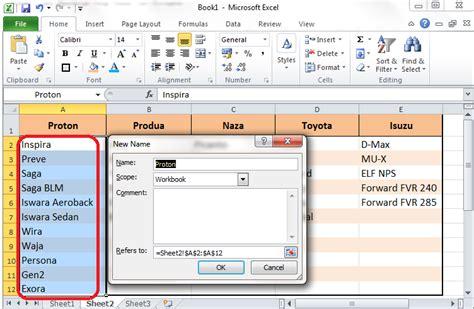 cara membuat drop down menu list di excel excel tutorial cara membuat drop down list dependent