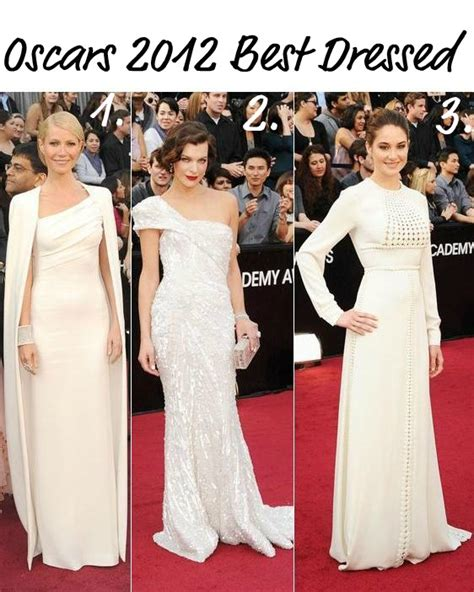 Styles Best Dressed At The Oscars by Style Oscars 2012 Best Dressed