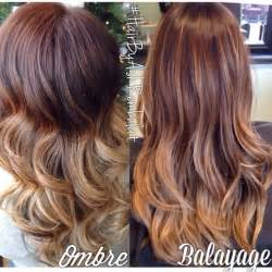 balayage hair color vs ombre ombre vs balayage here you can see the difference the