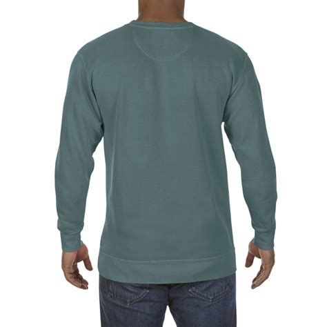comfort colors blue spruce cc1566 comfort colors crewneck sweatshirt blue