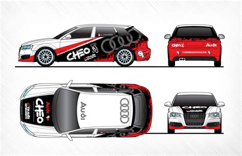audi rally car wrap design shawn magee design graphic design web design