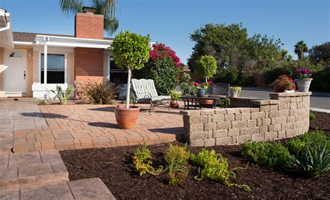 pavers front yard front yard paver patio transformation in san diego ca