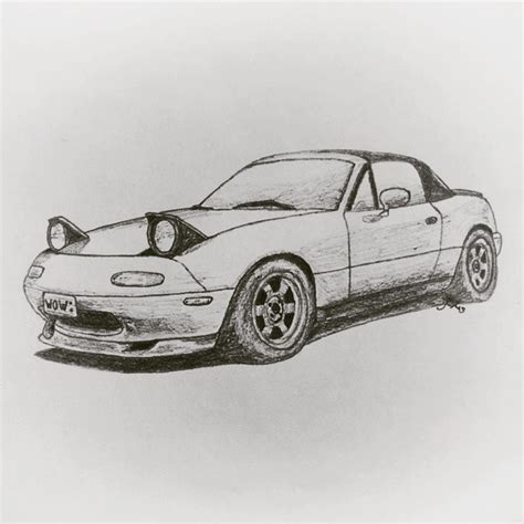 miata drawing car jdm pencil and in color car jdm
