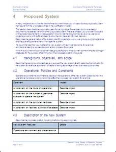 Concept Of Operations Template by Concept Of Operations Template Ms Word Sle