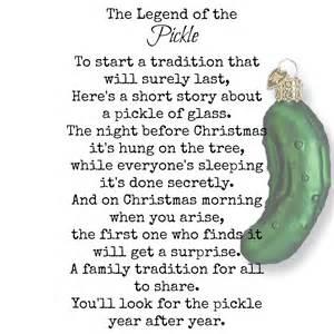 pickle poem legend of the pickle vintage treasures