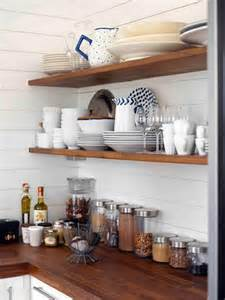 Wooden Kitchen Storage Jars - open shelf kitchens