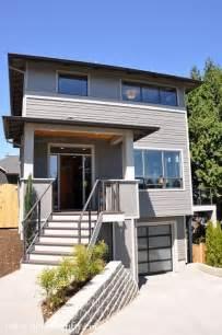 modern porches retro modern four square house portland gray house