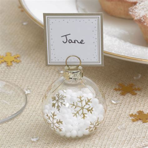 table place card holders 6 bauble place card holders or 10 place cards