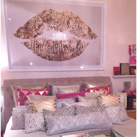 Red Gold Bedroom For The Home Pinterest | love the silver pillows future home pinterest