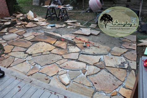 brentwood tn completed flagstone patio project by quigley
