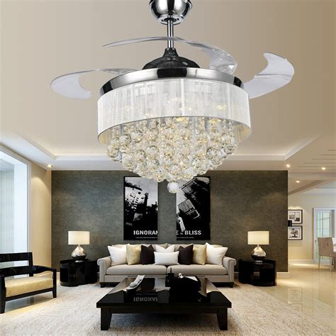 luxury ceiling fans with lights new product super luxury crystal ceiling fan l