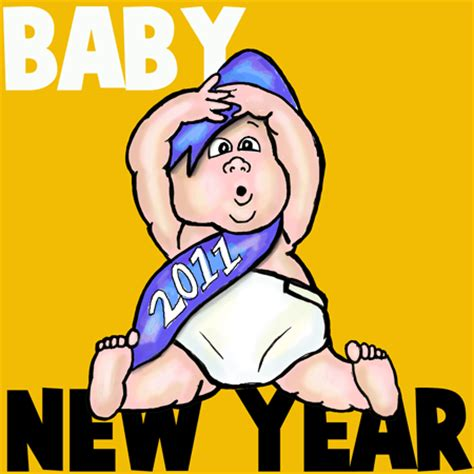 how to draw new year how to draw baby new year with easy step by step