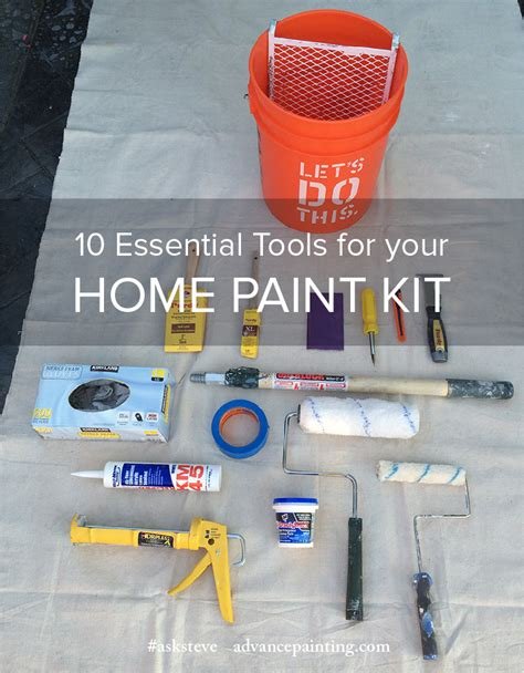 10 essential tools for your home paint kit central coast painting contractor advance painting