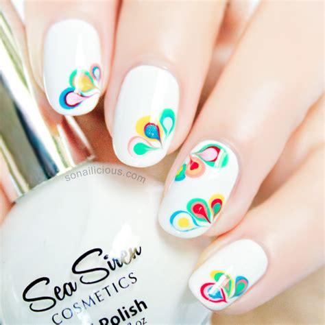 tutorial nail art rainbow rainbow drops drag marble nail art tutorial