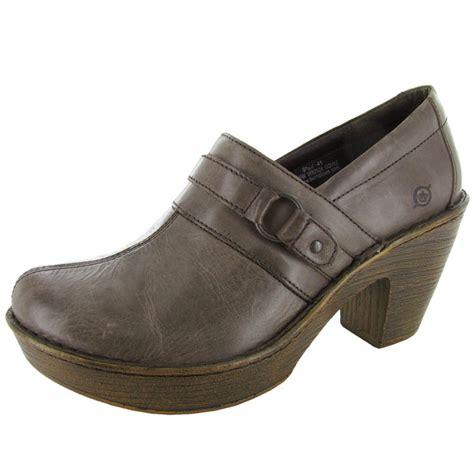 born womens haddon platform heeled clog shoe ebay