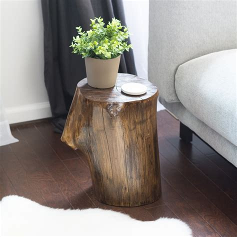 tree stump side table a tree stump side table