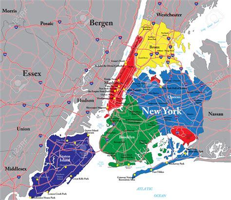 mapa nyc mapa de new york threeblindants