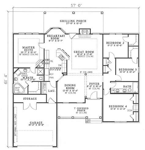 main floor plans southern traditional country house plans home design