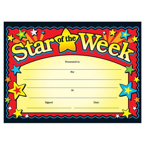 of the week certificate template of the week children s certificates brainwaves
