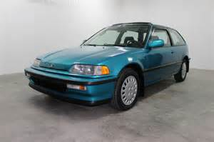 low mileage tahitian green 91 civic si