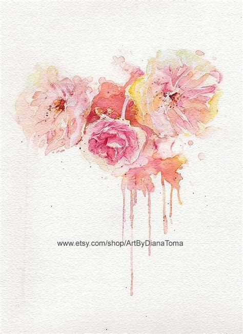 watercolor tattoo peony awesome watercolor peony flowers design inked