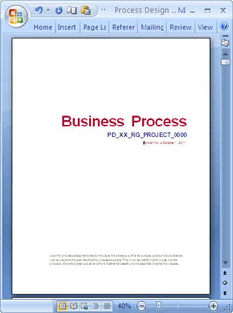 business process narrative template business process design templates ms word excel visio
