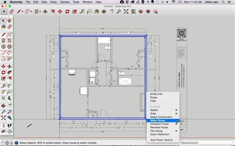 sketchup 2d floor plan draw a floor plan in sketchup from a pdf tutorial