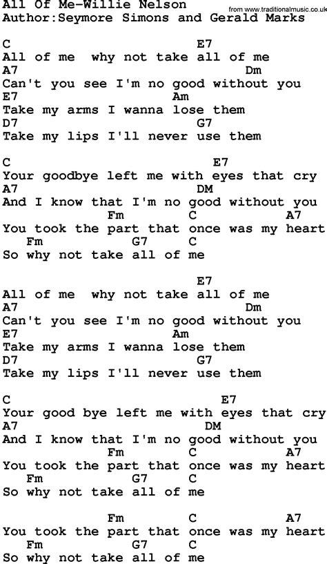 All Of Me Lyrics And Chords Download