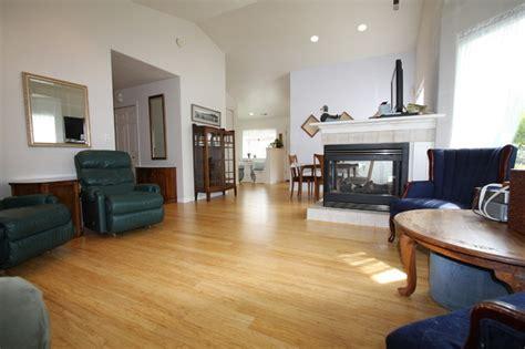 Livingroom Window Treatments bamboo flooring contemporary living room portland