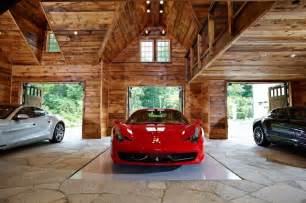 Ultimate man cave and sports car showcase traditional garage and