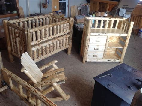 Handmade Cribs - custom rustic baby room by the amish hook up custommade