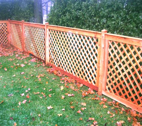 Wood Fence With Trellis Wood Fence