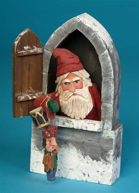 whimsical whittler   santa carvings