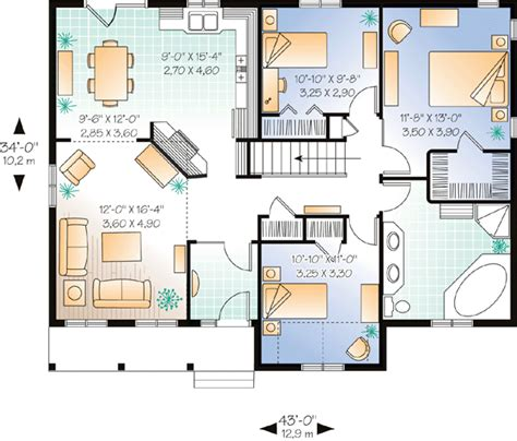 ranch style bungalow floor plans house plan 65006 at familyhomeplans