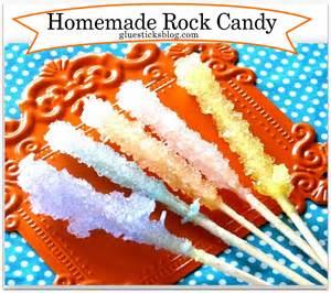 homemade rock candy gluesticks