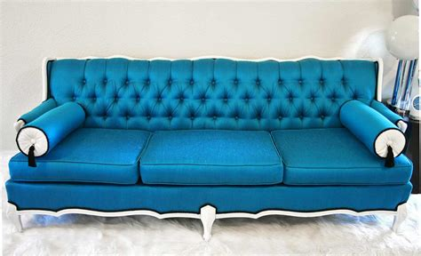 blue leather couches feel the home