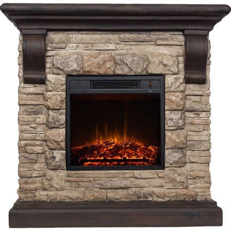 decor electric 1500w fireplace with 41 quot mantle