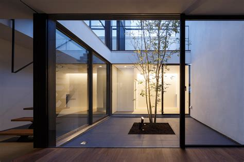 house patio apollo architects extrudes white volume from patio house