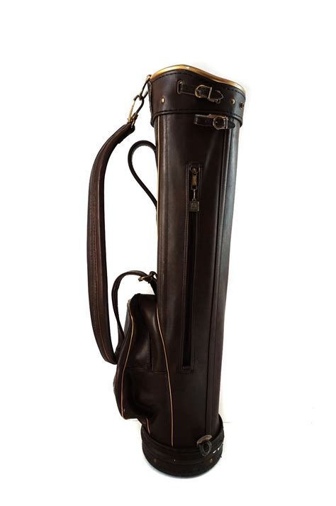 Gc Leather Brown Leather Gold macgregor leather pro only brown golf bag what s it worth