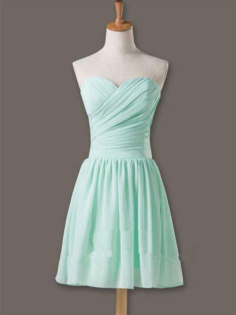 pretty  cute mint short simple prom dresses