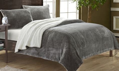 micro suede comforter naomi microsuede comforter 2 3pc groupon goods