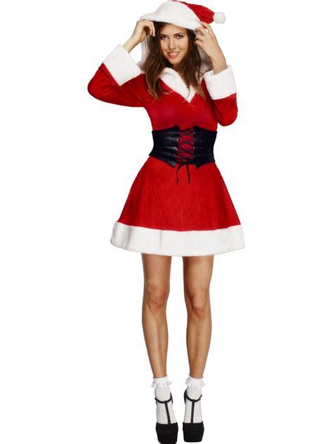 santa costume fever hooded santa costume 36988 fancy dress
