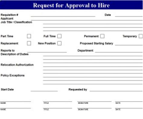 New Employee Forms Template