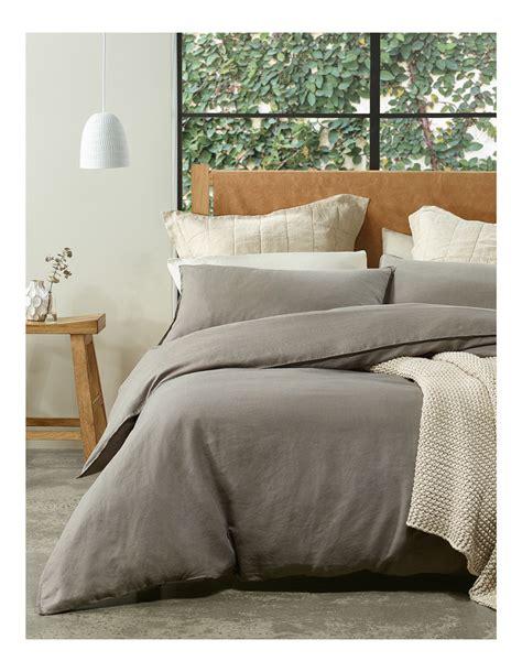 australian house garden sandy cape linen quilt cover set