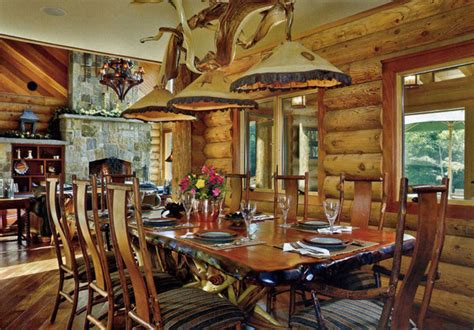 log cabin dining room furniture rustic dining table