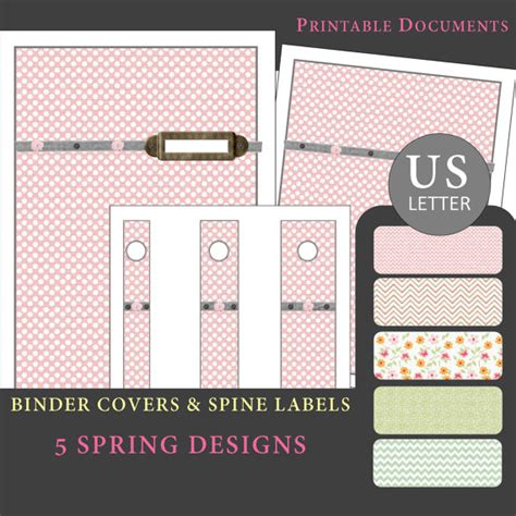 printable binder covers and spines us ltr printable binder covers spine label by