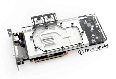 Thermaltake Pacific V Gtx 10 Series Founders Edition Transparent thermaltake showcasing pacific v gtx 10 series water block