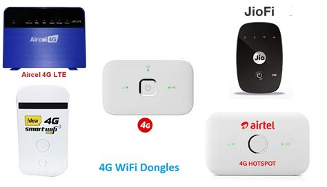 4g lte wifi dongle offers airtel jio vodafone idea and